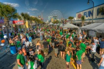 People at the St. Patrick's Day Celebration in Myrtle Beach, SC