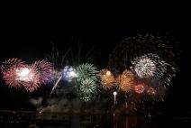 Oswego Harborfest fireworks by Grucci